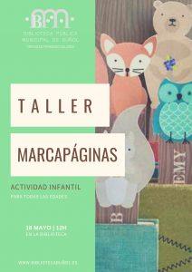 Actividad Infantil: Taller de Marcapáginas @ Biblioteca Pública Municipal de Buñol Cronista Fernando Galarza.