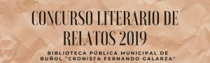 """Plazo admisión relatos Concurso literario de relatos 2019 @ Biblioteca Pública Municipal de Buñol """"Cronista Fernando Galarza"""""""