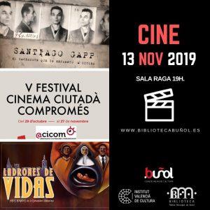 """Libros&Cine: Festival ACICOM @ Biblioteca Pública Municipal de Buñol """"Cronista Fernando Galarza"""""""