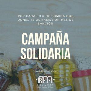 """Campaña Solidaria @ Biblioteca Pública Municipal de Buñol """"Cronista Fernando Galarza"""""""
