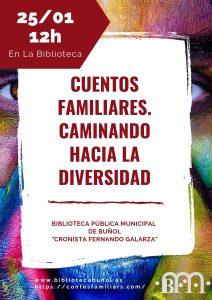 """Actividad Infantil: """"Cuentos familiares"""" @ Biblioteca Pública Municipal de Buñol """"Cronista Fernando Galarza"""""""