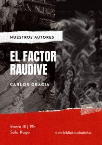 """Nuestros Autores: Carlos Gracia @ Biblioteca Pública Municipal de Buñol """"Cronista Fernando Galarza"""""""