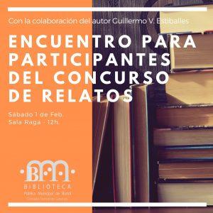 """Taller para los concursantes @ Biblioteca Pública Municipal de Buñol """"Cronista Fernando Galarza"""""""