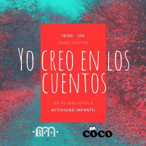 """Act. Infantil: Yo creo en los cuentos @ Biblioteca Pública Municipal de Buñol """"Cronista Fernando Galarza"""""""